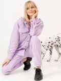 Фиолетовый костюм из кофты с капюшоном и штанов 53257, фото 2