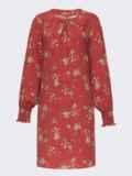 Терракотовое платье-трапеция с цветочным принтом 52659, фото 5