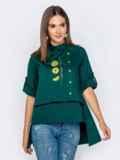 """Зеленая рубашка с рукавом-реглан и нашивкой """"лимон"""" 40856, фото 2"""