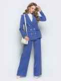 Голубой комплект из жакета и широких брюк 39980, фото 1