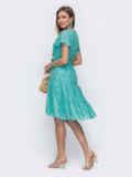 """Платье из прошвы с рукавом """"крылышко"""" бирюзовое 54336, фото 2"""