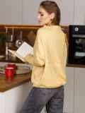 """Желтый джемпер с рукавом """"летучая мышь"""" 52780, фото 3"""