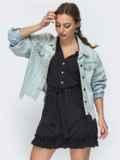 Расклешенное платье в горошек черного цвета 47026, фото 2
