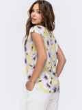 Желтаяблузкас цветочным принтом 48321, фото 3