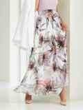 Белая юбка-макси из шифона с цветочным принтом  53996, фото 2