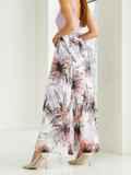 Белая юбка-макси из шифона с цветочным принтом  53996, фото 3