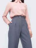 Серые брюки с завышенной талией 45802, фото 2