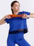 Синяя футболка из спортивного трикотажа 44453, фото 2