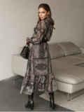 Расклешенное платье с принтом и воланом по низу 51791, фото 5