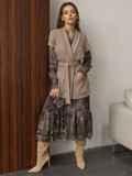 Расклешенное платье с принтом и воланом по низу 51791, фото 7