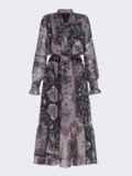 Расклешенное платье с принтом и воланом по низу 51791, фото 8