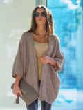 Светло-серый кардиган с укороченными рукавами - 13137, фото 1 – интернет-магазин Dressa