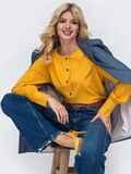 Желтая блузка свободного кроя из софта 50166, фото 1