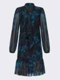 Черноеплатье-трапециясцветочнымпринтомиволаномпонизу 52689, фото 5