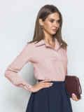 Пудровая блузка из софта с отложным воротником 49327, фото 2