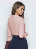 Пудровая блузка из софта с отложным воротником 49327, фото 3
