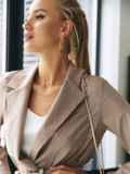 Классический бежевый пиджак 54646, фото 2