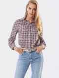 Классическая рубашка с бордовым принтом 53500, фото 2