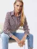 Классическая рубашка с бордовым принтом 53500, фото 3