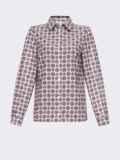 Классическая рубашка с бордовым принтом 53500, фото 5