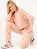 Костюм пудрового цвета из свитшота и штанов 53168, фото 2