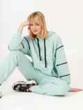 Спортивный костюм мятного цвета из худи и штанов 53171, фото 5