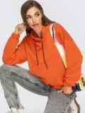 Худи свободного кроя с кулиской по низу оранжевое 55096, фото 1