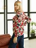 Рубашка из выскозы с принтом красного цвета 53080, фото 4